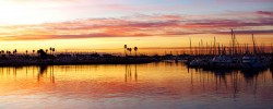 Ventura harbor sunrise